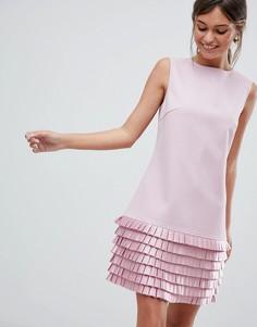Платье с атласной отделкой Ted Baker - Розовый