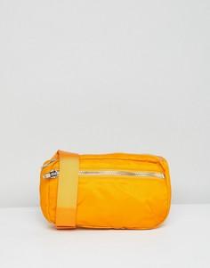 Сумка-кошелек на пояс Weekday Wood - Оранжевый