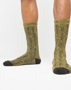 Зеленые носки с принтом RIPNDIP - Зеленый