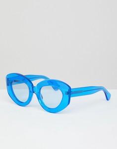 Солнцезащитные очки кошачий глаз House Of Holland - Синий