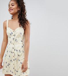 Сарафан с пестрым цветочным принтом ASOS DESIGN Tall - Мульти