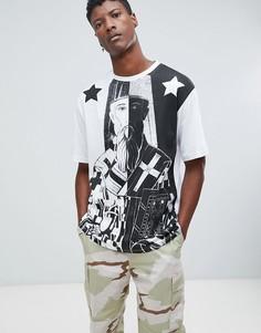 Oversize-футболка с принтом Systvm - Черный