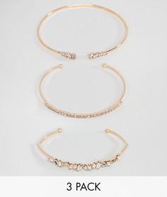 Комплект золотистых браслетов с декоративной отделкой ALDO - Золотой