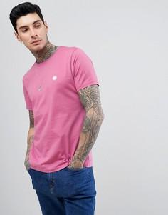 Розовая футболка с логотипом Pretty Green - Розовый
