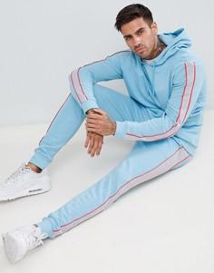 Спортивный костюм с худи и джоггерами скинни ASOS DESIGN - Синий