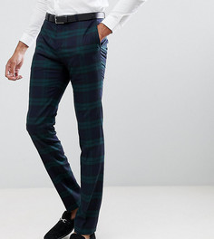 Облегающие брюки в зеленую клетку Twisted Tailor - Зеленый