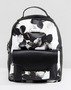 Рюкзак с цветочным принтом Claudia Canova - Черный