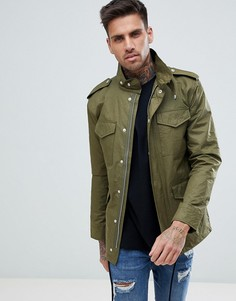 Куртка в стиле милитари с 4 карманами Just Junkies - Зеленый