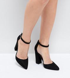 Туфли на блочном каблуке с острым носком Truffle Collection - Черный