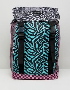 Рюкзак в стиле колор блок с принтом ASOS DESIGN - Мульти