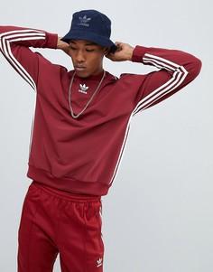 Красный свитшот в полоску adidas Originals Authentic DH3836 - Красный
