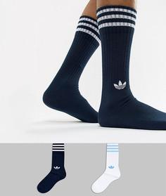2 пары темно-синих носков adidas Originals DH3363 - Синий