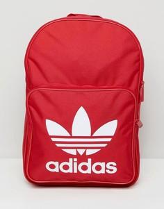Красный рюкзак с логотипом-трилистником adidas Originals DQ3157 - Красный