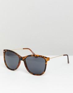 Квадратные солнцезащитные очки с дымчатыми стеклами ASOS DESIGN - Коричневый