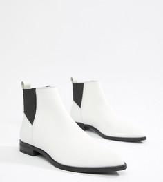 Кожаные ботинки челси ASOS DESIGN Atom - Белый