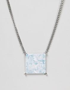 Эффектное ожерелье ASOS - Серебряный