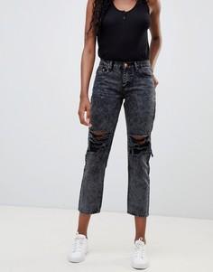 Рваные джинсы бойфренда Glamorous - Серый