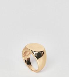 Золотистое кольцо-печатка DesignB London - Золотой