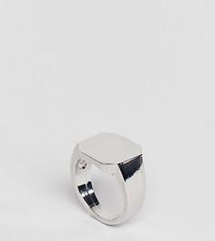Серебристое кольцо-печатка DesignB London Classic - Серебряный
