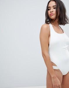 Слитный купальник Calvin Klein - Белый
