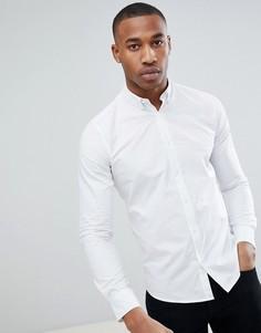 Хлопковая рубашка с воротником на пуговицах Only & Sons - Белый