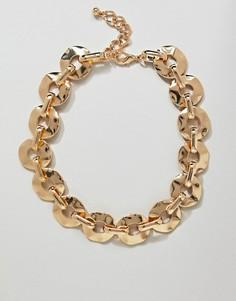 Эффектное ожерелье ASOS DESIGN - Золотой