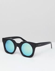 Солнцезащитные очки ретро в массивной оправе с затемненными стеклами Jeepers Peepers - Черный
