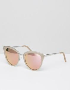 Солнцезащитные очки кошачий глаз Quay Australia Every Little Thing - Серебряный