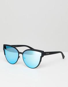 Солнцезащитные очки кошачий глаз с зеркальными стеклами Quay Australia - Черный