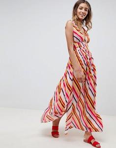 Пляжное платье макси в полоску ASOS DESIGN - Мульти