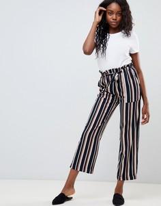 Широкие брюки в полоску с поясом JDY Anneline - Мульти