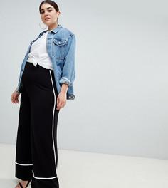 Широкие брюки ASOS DESIGN Curve - Черный
