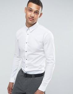 Белая обтягивающая рубашка River Island - Белый