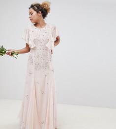 Платье макси ASOS DESIGN Petite - Розовый