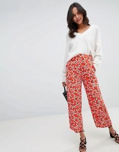 Широкие брюки с цветочным принтом Vila - Мульти