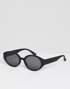 Черные матовые солнцезащитные очки с дымчатыми стеклами ASOS DESIGN - Черный