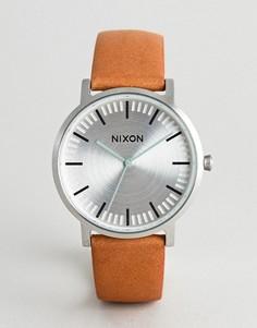 Наручные часы со светло-коричневым кожаным ремешком Nixon A1058 Porter - Рыжий
