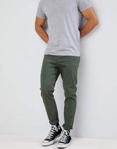 Суженные книзу зеленые джинсы ASOS DESIGN - Зеленый