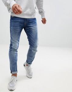 Эластичные джинсы слим Diesel Thommer 084TW - Синий