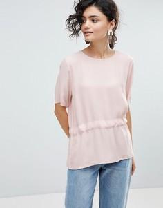 Блузка с асимметричным краем Selected Femme - Розовый
