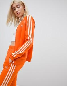 Оранжевая спортивная куртка с тремя полосками Adidas Originals - Оранжевый