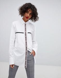 Oversize-рубашка с логотипом HUGO - Белый