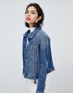 Джинсовая куртка с завязками Boss - Синий