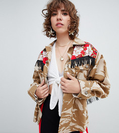 Куртка в стиле милитари с бахромой Reclaimed Vintage revived - Мульти
