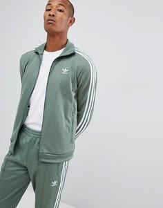 Зеленая спортивная куртка adidas Originals Beckenbauer DH5820 - Зеленый