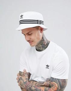 Белая панама с логотипом-трилистником adidas Originals DH3350 - Белый