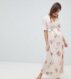 Платье макси с запахом и цветочным принтом ASOS DESIGN Maternity - Мульти