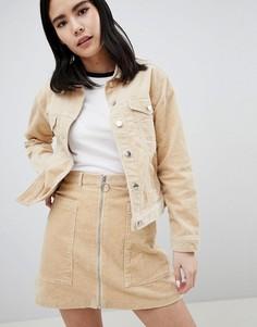 Вельветовая куртка Monki - Бежевый
