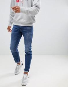 Стретчевые джинсы слим Diesel Thommer 084UH - Синий