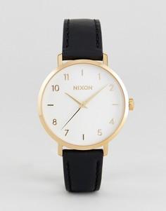 Часы с черным кожаным ремешком Nixon A1091 - Черный